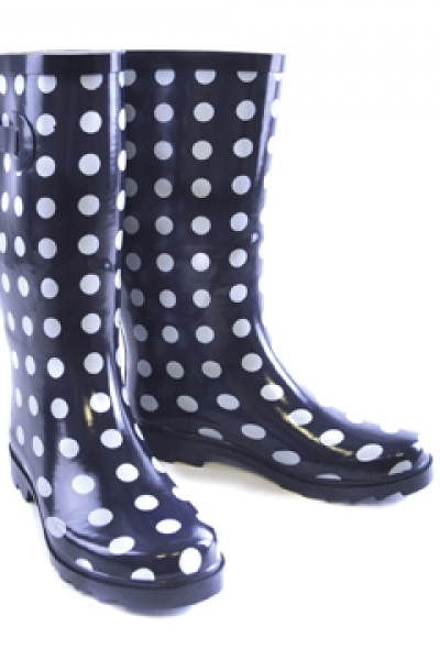 Funky Black Spot Welly