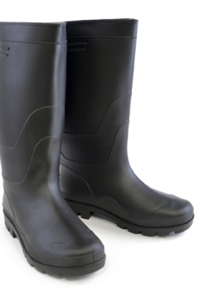 Mens PVC Black Wellington