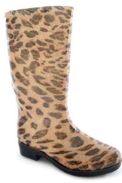 Funky Leopard PVC Welly