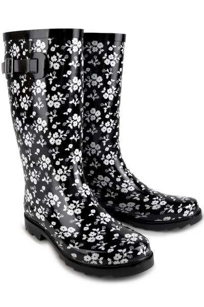 Funky Black & White Floral