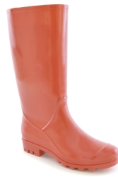 Ladies Sarah Coral pvc Welly