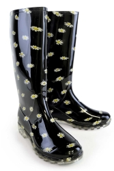 Funky Daisy Print PVC Welly